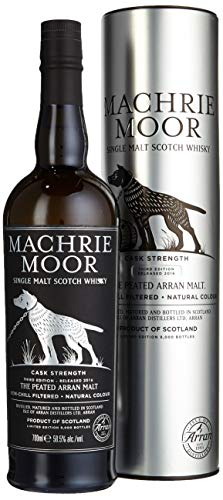 The Arran Malt Peated Machrie Moor Cask Strength mit Geschenkverpackung Whisky (1 x 0.7 l)