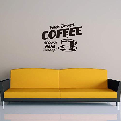 Cooldeer gesneden muursticker Engels koffie beker woonkamer slaapkamer decoratie zelfklevend papier