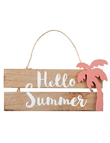 Holzschild Hello Summer 29 x 12,5 cm