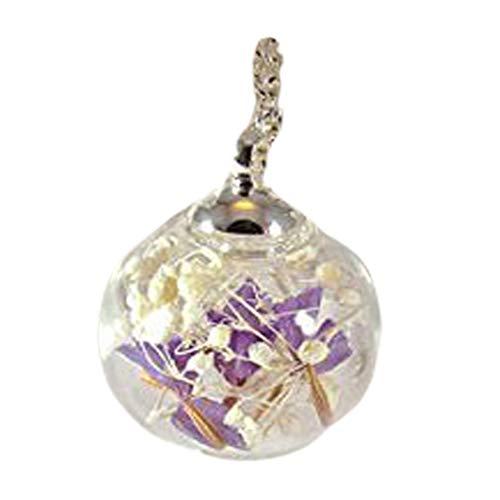 getrocknete Blume Anhänger echte Blume Halskette Glas Globus Kette Baby Atem Anhänger Blumenkette