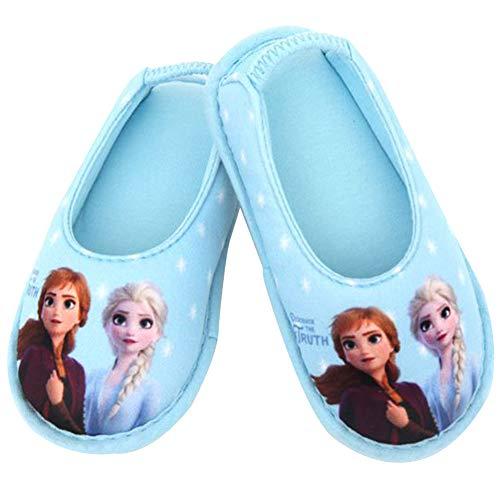[ディズニー] アナと雪の女王2 Frozen 2 エルサ アナ 女の子 子供用 室内履き キッズ スリッパ ルームシューズ (15.0 cm, スカイブルー) [並行輸入品]