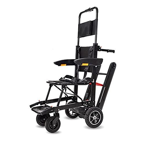 Ancianos Discapacitados Silla de ruedas de escalada eléctrica Tipo de oruga Silla de escalera de escalada Escaleras de silla de ruedas Silla de escalera de escalada Ascensor de rescate de emergencia
