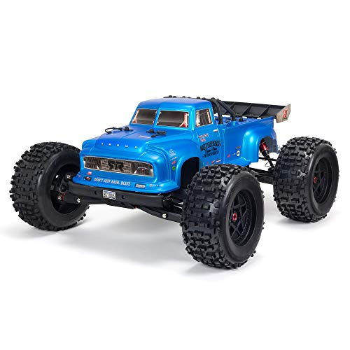 ARRMA 1/8 Notorious 6S V5 4WD BLX Stunt RC Truck with Spektrum Firma RTR (Transmitter and Receiver Included, Batteries and Charger Required), Blue, ARA8611V5T2