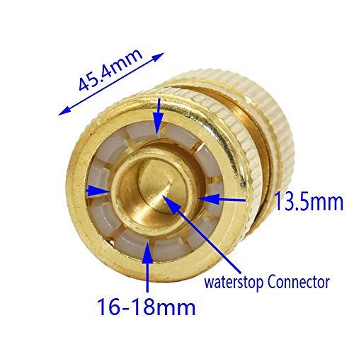 Chentaocs Waterslang, 1/2 inch, snel-waterslang, messing, koper, adapter, waterpistool, aansluiting voor tuinslang, 1 stuk Geel