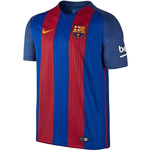 NIKE 776850-481 Camiseta Fútbol Club Barcelona, Hombre, Azul/Rojo/Dorado, S