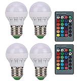 Pinsofy Bombillas RGB, Bombilla LED de 40 W, Bombillas de luz Que cambian de Color, Alta eficiencia, Vida útil Muy Larga para Pasillo, baño, Dormitorio, Hotel