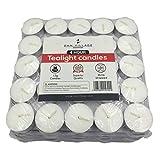 Zan Village Homeware Candele tealight, 4 ore di durata, 12 g, confezione da 100 pezzi sigi...