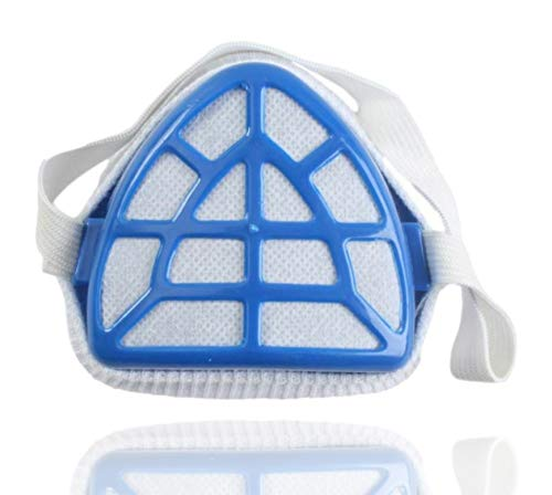 1x Gesichtsfiltermaske blau Atemschutz Maske Mundschutz mit flexiblen Zugband