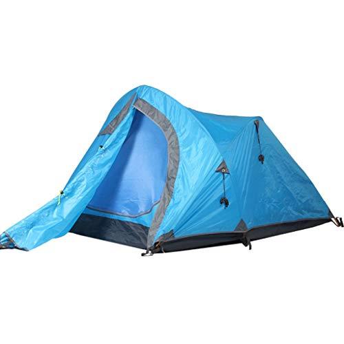 CATRP Marque Tente De Camping 2-3 Homme Double Couche Étanche Coupe-Vent Tente Familiale en Plein Air Poids Léger Tente Dôme, Bleu