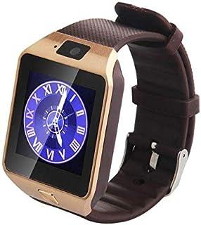 ساعة ذكية شريط مطاطي متوافقة مع اندرويد و اي او اس,بني - DZ09