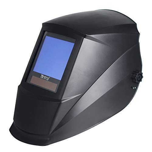 """Antra Welding Helmet Auto Darkening A77D, Viewing Size 3.86X3.23"""", extended shade range 4/5-9/9-14 Great for TIG, MIG/MAG, MMA, Plasma, Grinding, Solar-Lithium Dual Power, 6+1 Extra lens covers …"""