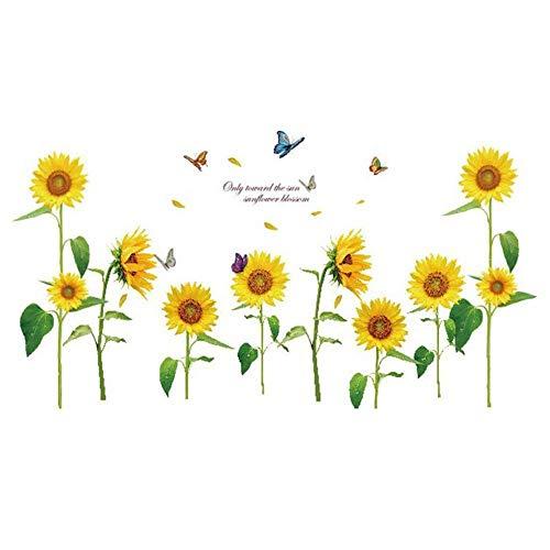 NiceButy Décoration de jardin en forme de tournesol en été, facile à enlever, pour enfants, loisirs créatifs