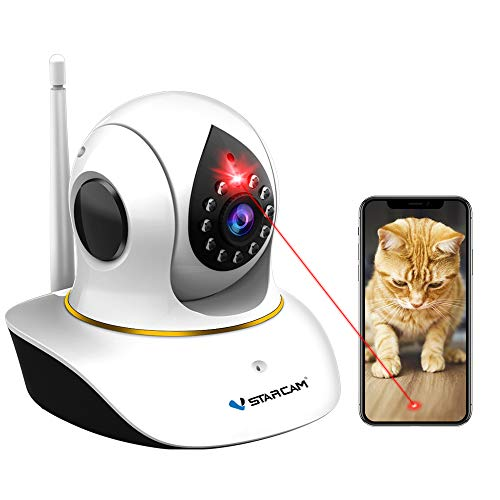 Pet Camera, VSTARCAM Cat Camera with Laser Wireless Cat Camera 1080P Baby Monitor Camera with 2 Way Audio, Night Vision Sound Motion Alerts, APP Remote Control Home Security Camera for Pet & Baby