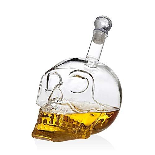 ZSQHD Mano-Flujo de Vino Decantador de Vino Crystal Skull Pilas para Vodka Botella de Vino Decanter Whisky La Obra de Arte de (Size : Decanter 350ML)