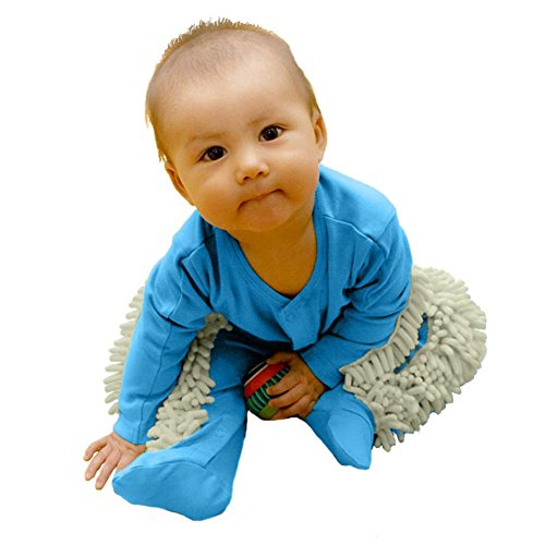 La Cabina Body de Bébé Unisexe Mignon Vêtement de Mop Bodysuit Bébé Fille et Garçon Combinaison Barboteuse Tops Manches Longues Vêtement de Ramper Bébé à la Mode