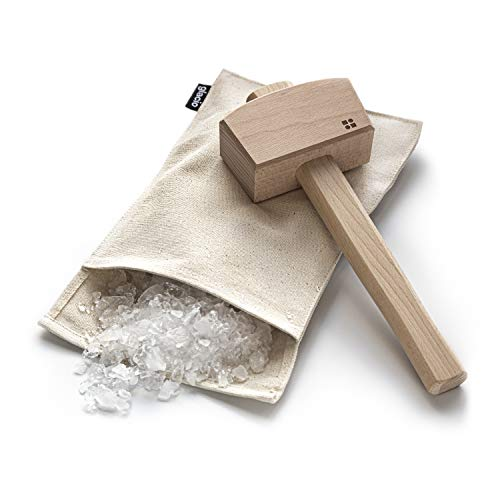 glacio Ice Mallet and Lewis Bag - Wood Hammer and Canvas Bag for...