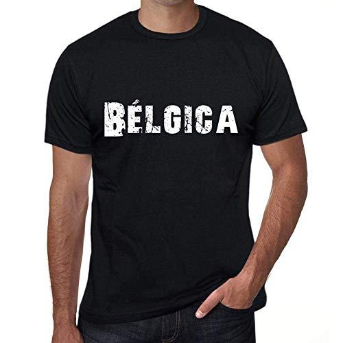 One in the City Bélgica Hombre Camiseta Negro Regalo De Cumpleaños 00550
