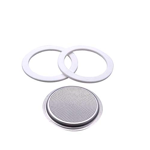 Début - Replacement Gasket and Filter for 8 Cup stovetop Espresso Coffee Makers
