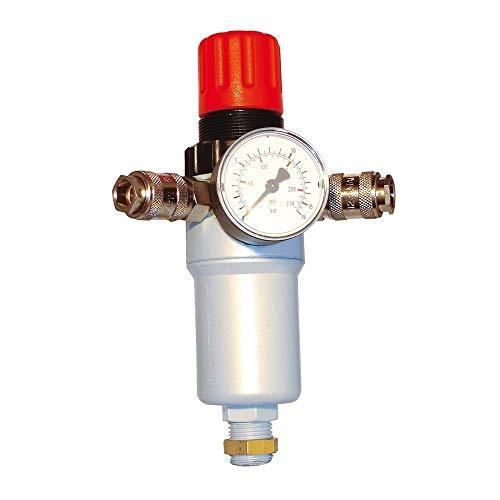 Cevik CA-2/950 Druckluft-Druckregler mit Manometer und 2-Wege-Ventil, 1/2Zoll (1,27cm)