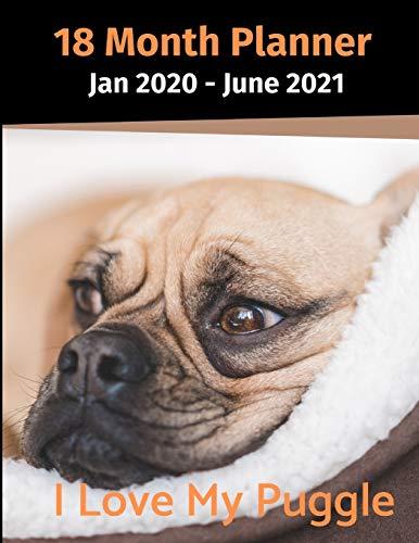 Jan 2020 - June 2021 18 Month Planner: I Love My Puggle