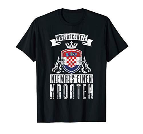 Kroatische Flagge Geschenk für Kroaten Kroatien T-Shirt