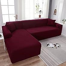 VEAI Funda de Sofa Chaise Longue Derecho/Izquierdo 3 2 4 Plazas, Funda Cubre Sofá de Forma L Protector para Sofá (Necesita Comprar 2 Piezas) (Color : G, Size : 1 Plaza (90-140 cm))