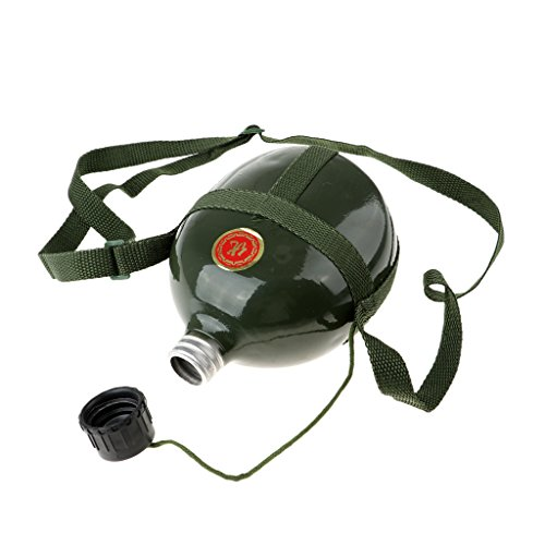 F Fityle Contenedor de Camping con Botella de Agua para Cantina Militar Al Aire Libre con Correa Ajustable