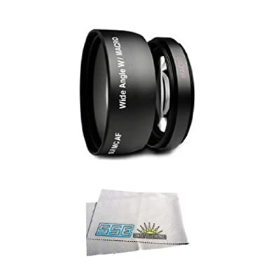 Wide Angle Macro Lens for The Sony Dcr-sr62, Sr65, Sr67, Sr82, Sr85, Sr87 Camcorder from SSE