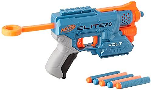 NERF Elite 2.0 Volt SD-1 Blaster -- 6 Official Darts, Light Beam Targeting, 2-Dart Storage, 2 Tactical Rails to Customize for Battle