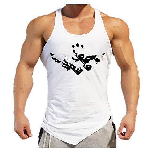 Ropa Gimnasios Ingenieros Hombres Singlets Chaleco Casual Gimnasios Cuerpo Fitness Hombres Culturismo Suelto Algodón Tank Tops