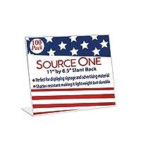 SourceOne 100パックケース11x 81/2Slant BackサインホルダーFoam Packed
