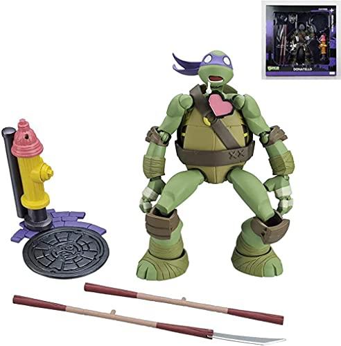 LINRUS Ninja Turtles Action Figures Model Characters 1990 Action Figure Teens Toys for Children Rise of the Teenage Mutant Ninja Turtles Giant Leonardo Figure