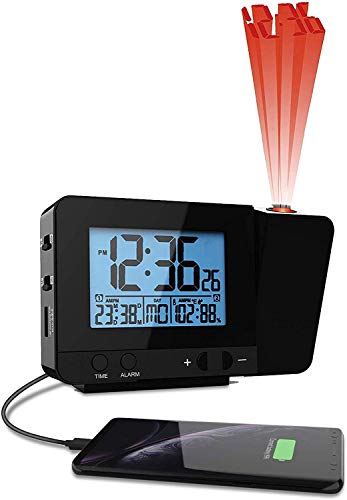 Projection Alarm Clock With Temperature and Dual...