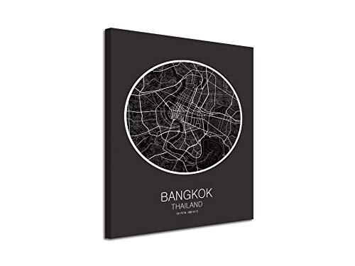 Foto Canvas Cuadro Mapa Bangkok Thailand en Lienzo Canvas Impreso Decorativo | Cuadros Modernos