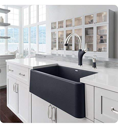 BLANCO, Anthracite 442023 ARTONA Color-Coordinated Pull-Down Dual Spray Kitchen Faucet, 2.2 GPM