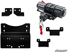 SuperATV Heavy Duty Winch Mounting Plate for Honda Pioneer 700/700-4 (2014+) - SuperATV 3500 lb. Winch Included!