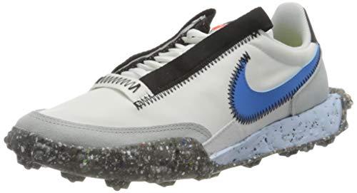 Nike Waffle Racer Crater, Zapatillas de Gimnasio Mujer, Summit White Photo Blue...