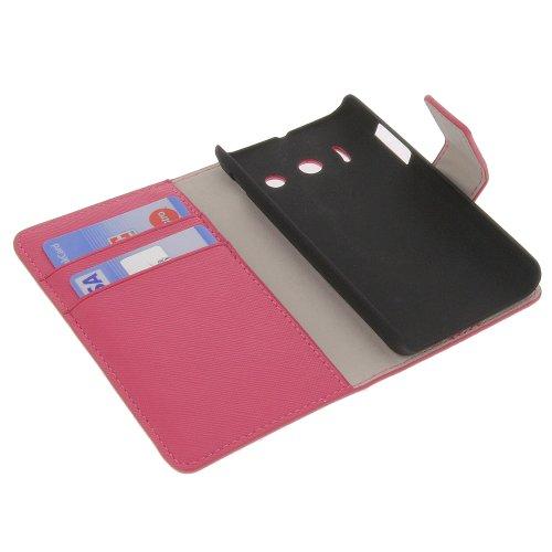 foto-kontor Tasche für Huawei Ascend Y300 Book Style Schutz Hülle Buch pink