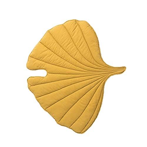 hong Wu Baby Leaves Teppich Wiedergabe Isomatte Krabbeln Decke Cotton Soft Pad für Baby-Kind-Schlafzimmer-Aktivität Raum Gelb