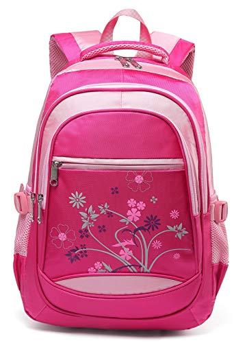 Kids Backpacks for Girls Elementary School Bags for Kindergarten Girly Bookbags (Hot Pink)