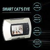 Display LCD ad alta risoluzione da 2,4 pollici per monitor visivo Spioncino Peep Hole Viewer Monitor per interni Videocamera per esterni DIY - Argento