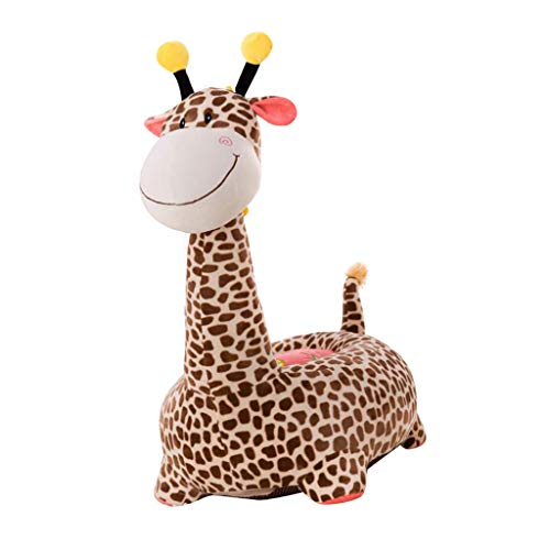 Flameer Baby Kids Animal Beanbag Sofa Chair Cover Stuffed Animal Bean Bag (Without Fillings) - Giraffe(Brown)