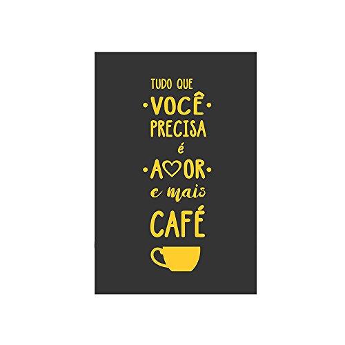 Placa Decorativa Café Kapos Multicor 20X30