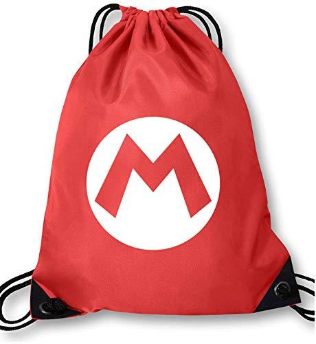 AngryShirts Mario Kostüm Turnbeutel