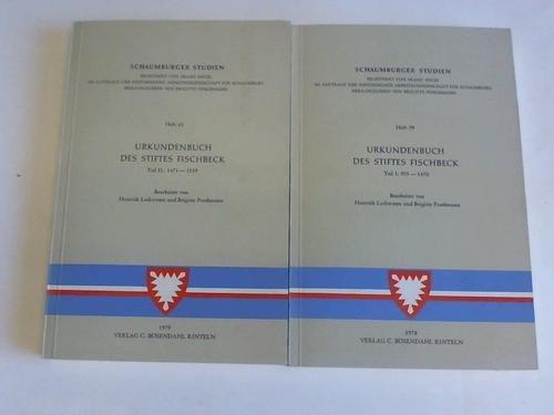 Urkundenbuch des Stiftes Fischbeck, Teil I: 955 - 1470 und Teil II: 1471 - 1539. 2 Bände