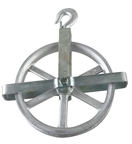 PEERLESS Well Wheel Pulley Block, Swivel Hook, Designed For Fibrous Rope, 12