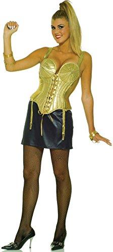 Forum Novelties Women's 1990 Pop Star Costume, Gold/Black, Medium/Large