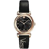 Versace V-Motif Quartz Black Dial Ladies Watch