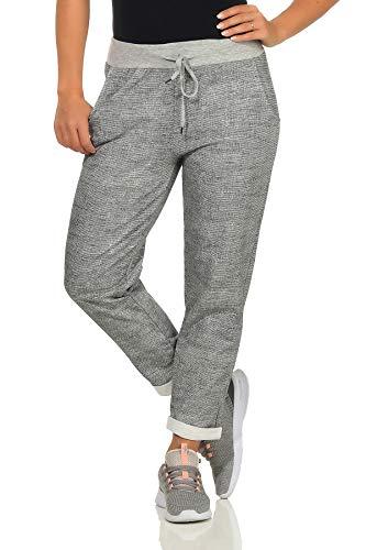 Gringo Damen Sweatpants im Boyfriend-Style Jogginghose für Sport und Freizeit One Size (Grau)