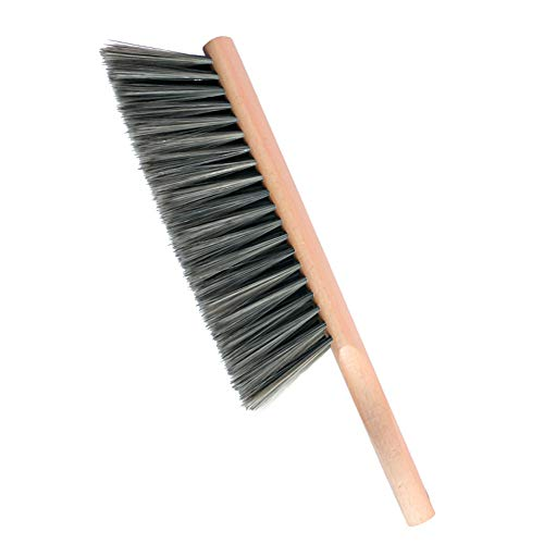 Huibot Hand Brush Soft Bristles Oiled Beech Wood Handle Small 14 Inch Long (Gray)